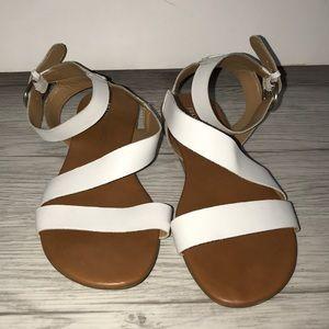 never worn- white sandals